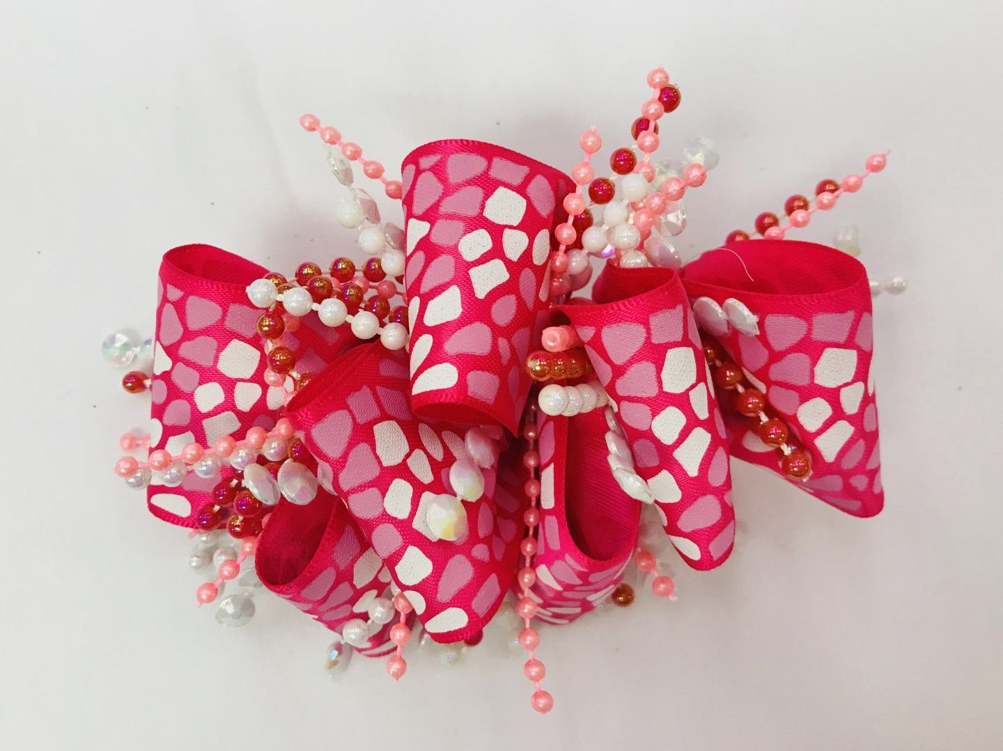 CHEE CHEE PINK PATTERNED BOW
