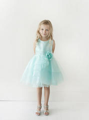 TIP TOP AQUA RUFFLED FLOWER GIRL DRESS SIZE 2-8