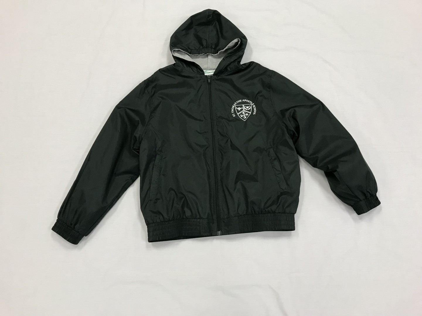 Fleece Lined Windbreaker with Hood