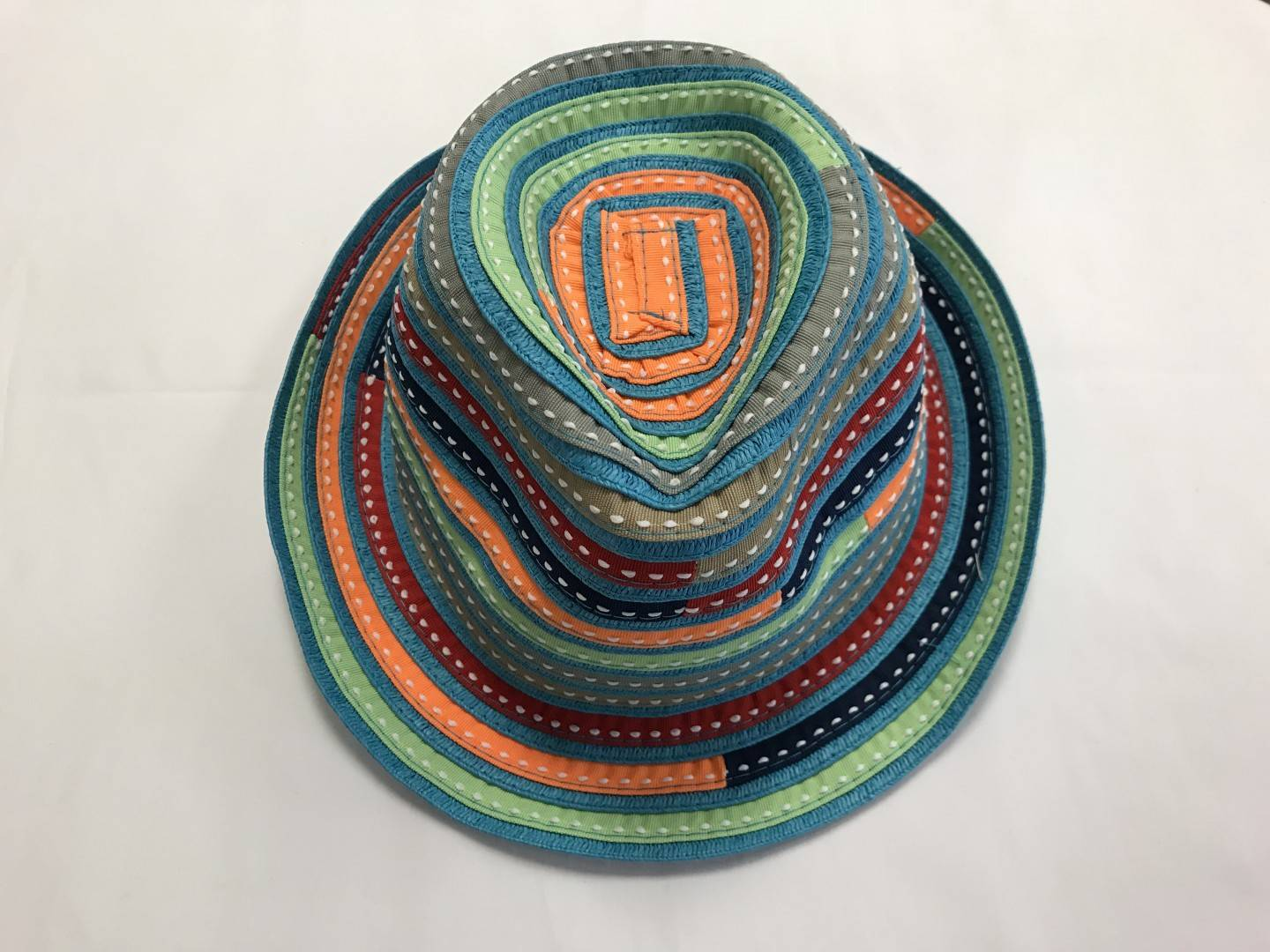 SUNNY DAYZ COLORFUL PAPER BRAID HAT YOUTH SIZES 6-12