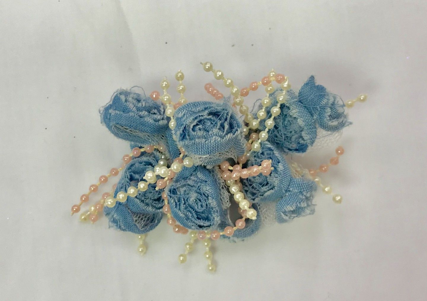 CHEE CHEE DENIM ROSES BOW