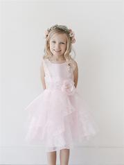 TIP TOP PINK RUFFLED FLOWER GIRL DRESS SIZE 2