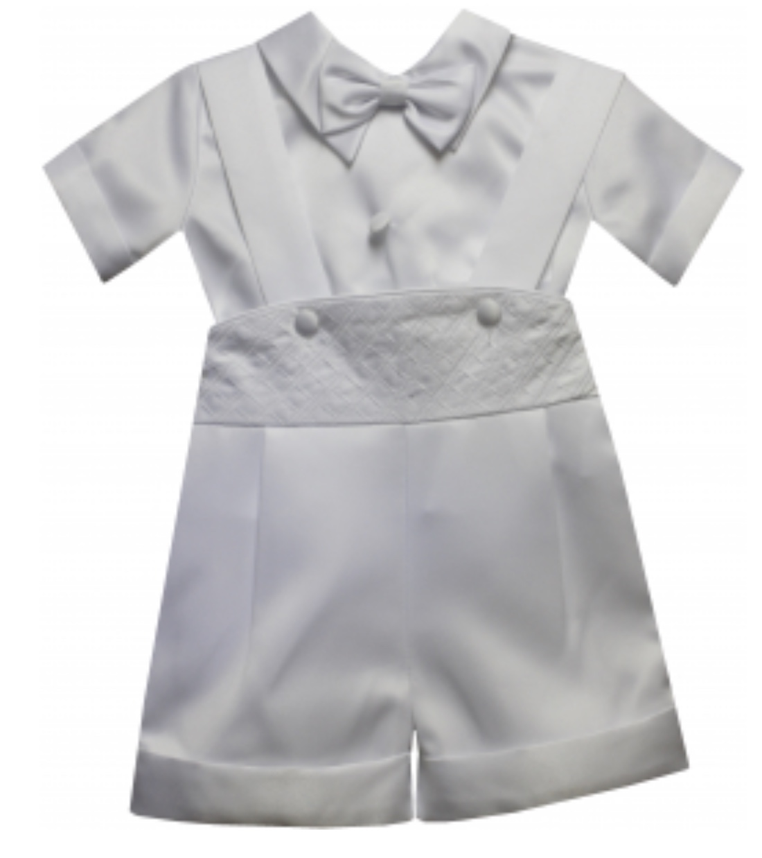 PRECIOUS ANGELS BOYS SHORT CHRISTENING SUIT WITH HAT
