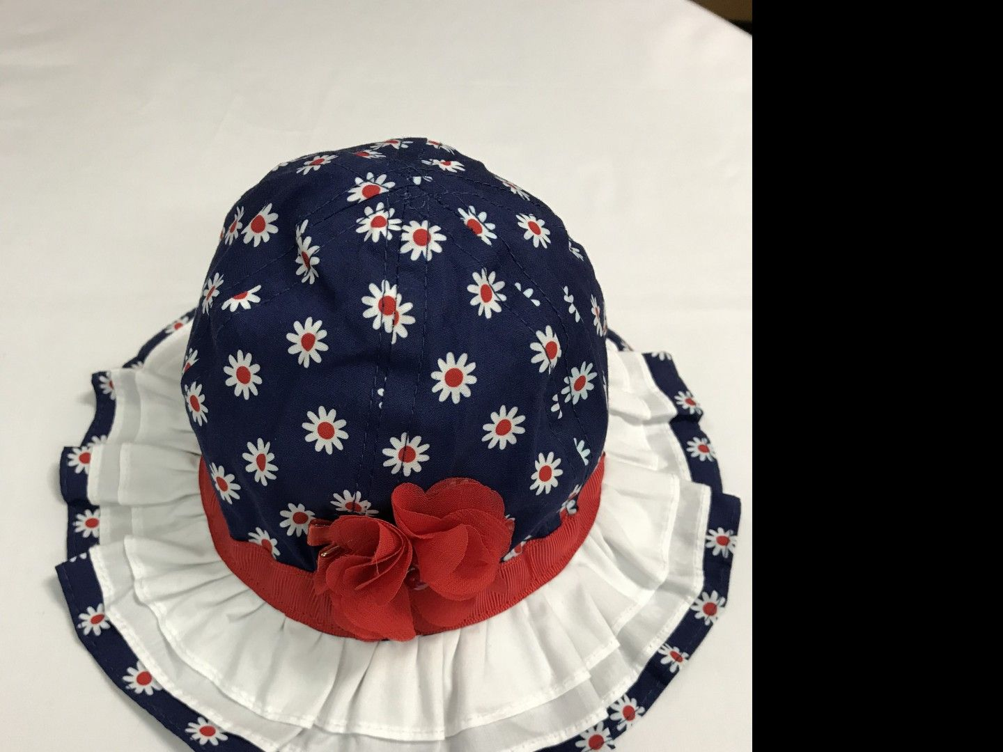 WEE ONES RED-WHITE-BLUE SUN HAT SIZE 6-12 MONTHS