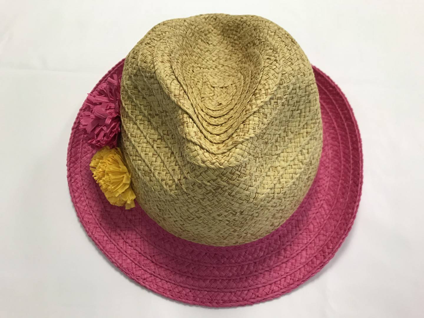 SUNNY DAYZ TAN AND PINK FEDORA SIZES 6-12