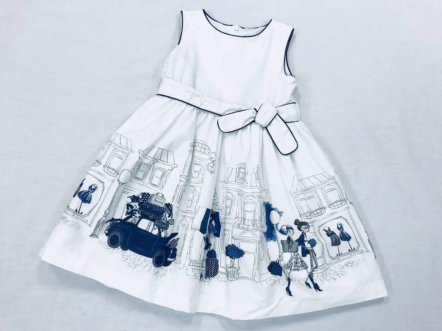 NAVY BLUE AND WHITE DRESS SIZE 5-7