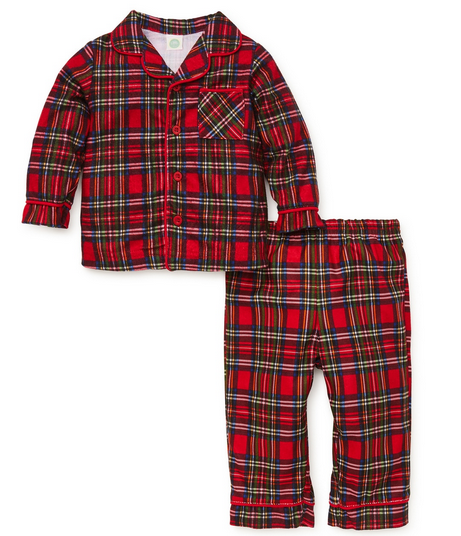 LITTLE ME RED PLAID HOLIDAY PAJAMAS FOR BOYS