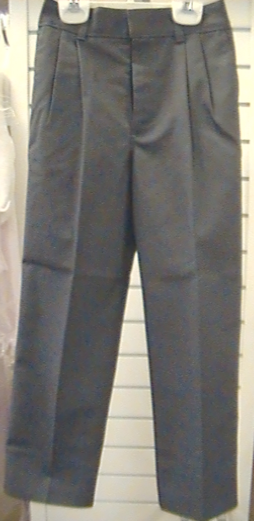Charcoal Gray PantPleated Front