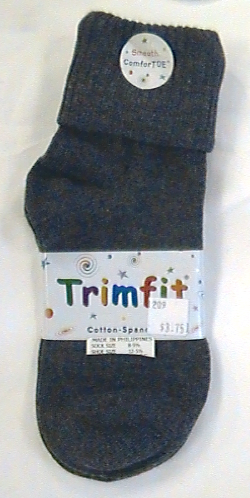 Charcoal GrayTriple Roll Ankle Sock