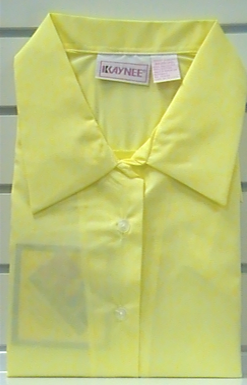YellowShort SleevePointed Collar Blouse