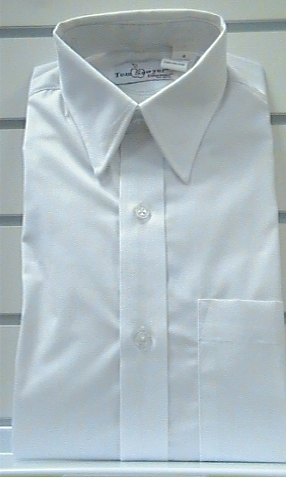 WhiteShort SleeveBroadcloth Shirt