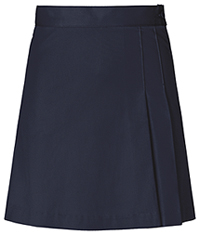 Girls Double Pleated Navy Skort