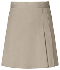 Girls Double Pleated Khaki Skort