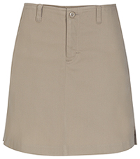 Girls Stretch Fly Front Khaki Skort