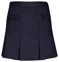 Girls Bow Pocket Navy Skort