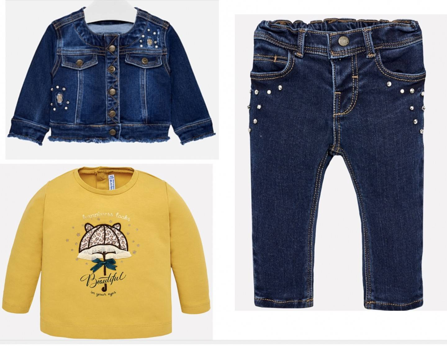 MAYORAL 3 PC DENIM SET