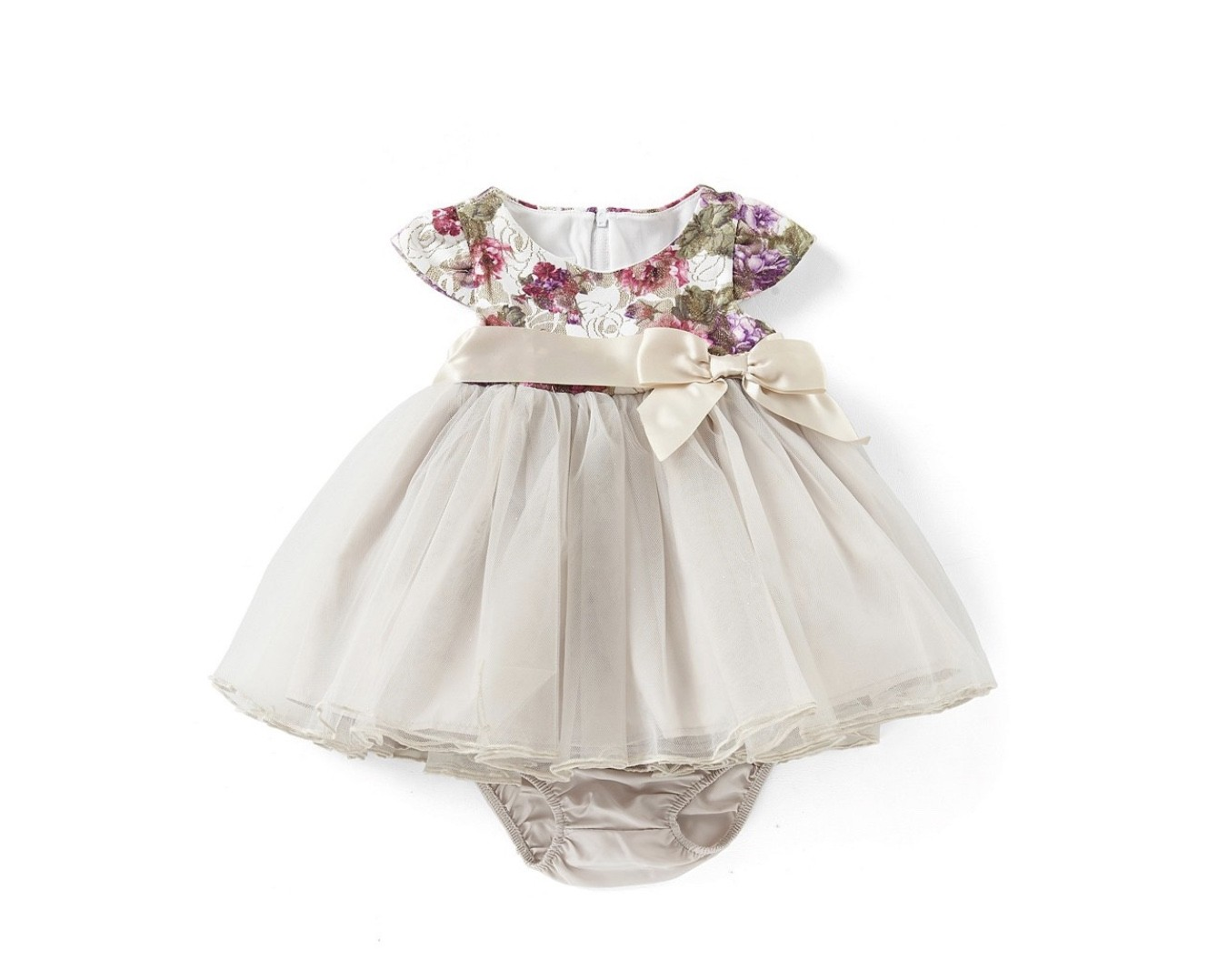 BONNIE JEAN FLORAL AND LACE DRESS SIZES 0 TO 24 MONTHS