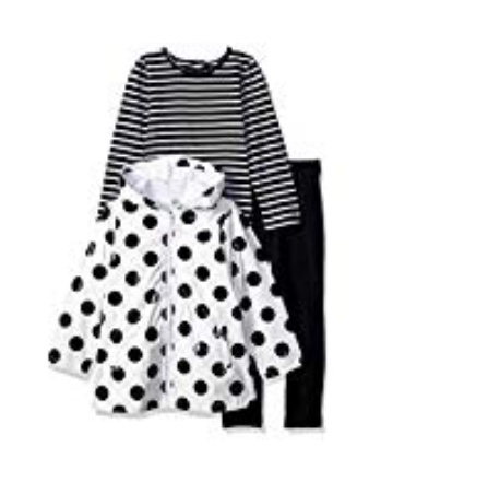 LITTLE ME 3 PC JACKET SET WITH POLKA DOT RAINCOAT