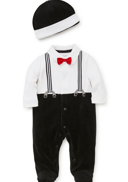 LITTLE ME CHARMING CHAP ONESIE
