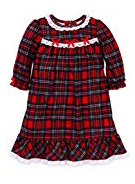 GIRLS PLAID HOLIDAY FLANNEL NIGHTGOWN