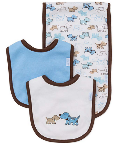WHITE MULTI BURP AND BIB SET