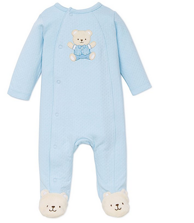 LIGHT BLUE TEDDY BEAR FOOTIES