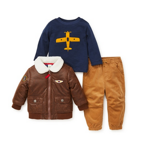 3 PC AVIATOR JACKET SET