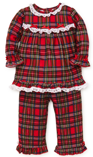 LITTLE ME 2PC PLAID HOLIDAY SLEEPWEAR FOR GIRLS
