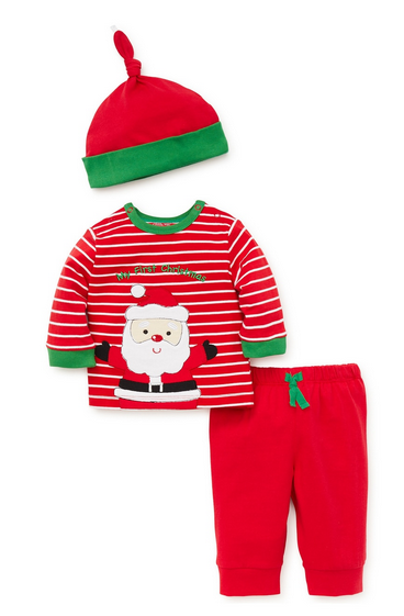 LITTLE ME 3 PC MY FIRST CHRISTMAS JOGGER SET WITH HAT