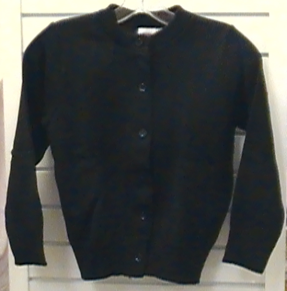 Black Crewneck Cardigan