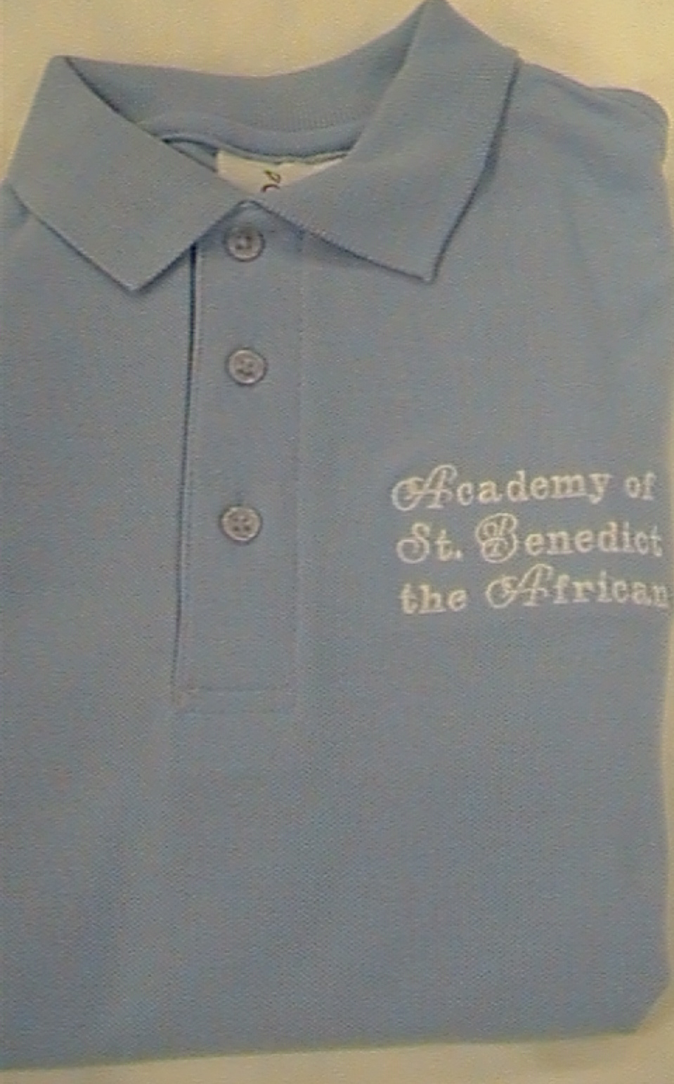 Academy of St. Benedict the AfricanLight BlueLong Sleeve Polo