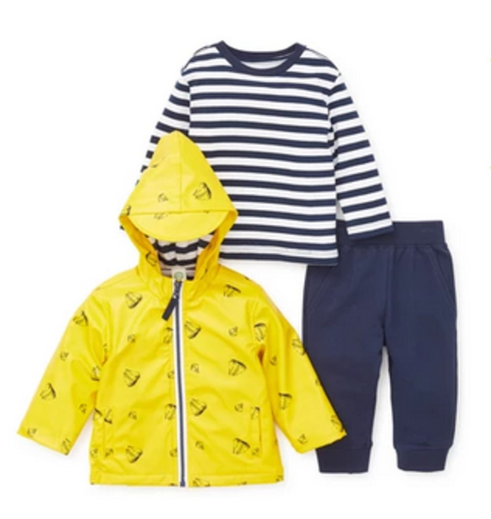 Little Me Toddler Boys' 3 Piece Sailboat Jacket Set